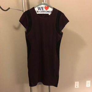 DVF Maroon Dress - Sz 12
